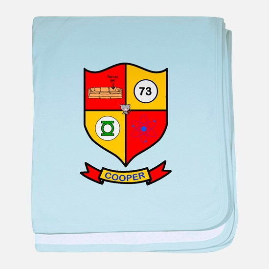 Sheldon Cooper Coat of Arms baby blanket