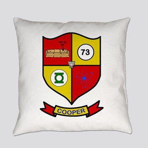 Sheldon Cooper Coat of Arms Everyday Pillow