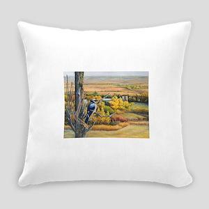 SRose Autumn Blues Everyday Pillow