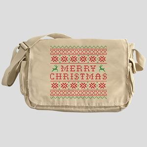 Ugly Merry Christmas Sweater Messenger Bag
