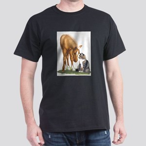 Mini Horse and Cat Dark T-Shirt