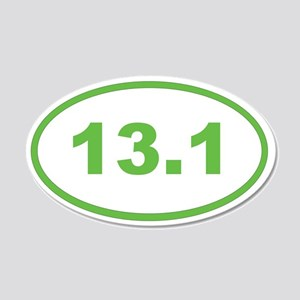 13.1 light green oval Wall Decal