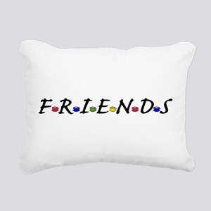 Friends And Coffee Cups Rectangular Canvas Pillow