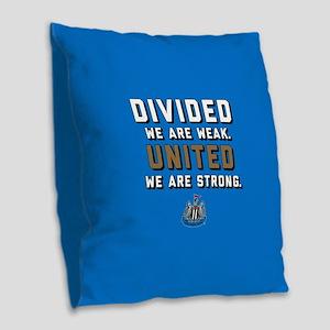 NUFC United Strong Burlap Throw Pillow