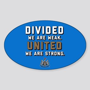 NUFC United Strong Sticker (Oval)