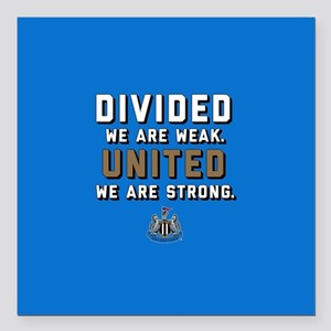 "NUFC United Strong Square Car Magnet 3"" x 3"""