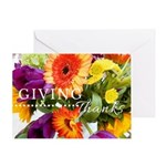 Thanksgiving Card - Fall Flowers Greeting Cards