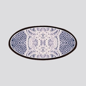 Country chic blue denim lace Patch