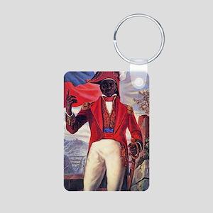 Toussaint Louverture Aluminum Photo Keychain