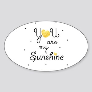You are my sunshine - gold Sticker
