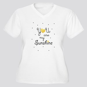 You are my sunshine - gold Plus Size T-Shirt