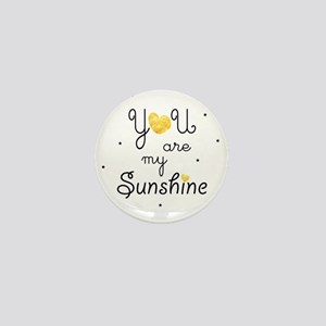 You are my sunshine - gold Mini Button
