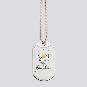 You are my sunshine - gold Dog Tags