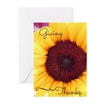 Giving Thanks- Sunflower Note (pk Greeting Cards