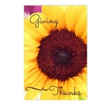 Giving Thanks- Sunflower Postcards (package Of 8)