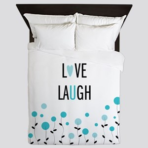 Live Love Laugh Queen Duvet