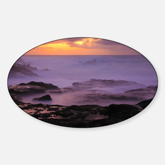 Seascape at sunset Decal