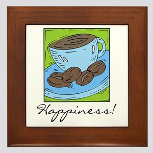 Coffee Happiness Framed Tile
