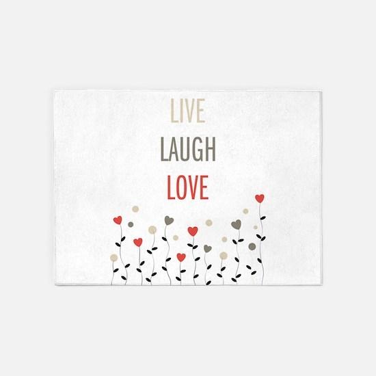 Live Laugh Love 5 X7 Area Rug