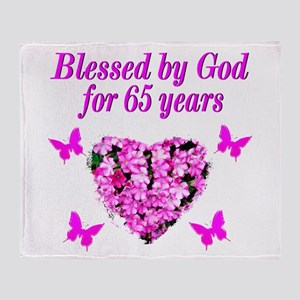 BLESSED 65TH Throw Blanket