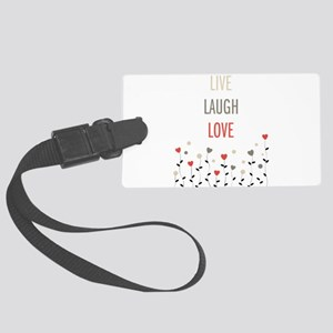 Live Laugh Love Large Luggage Tag
