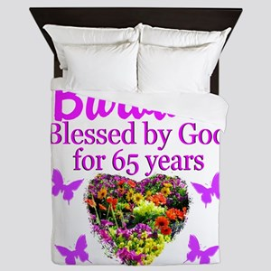 BLESSED 65TH Queen Duvet