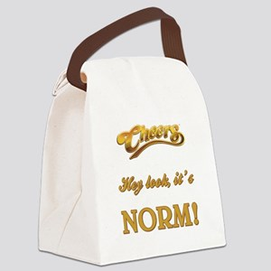 HEY LOOK, IT'S NORM! Canvas Lunch Bag