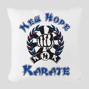 New Hope Karate Woven Throw Pillow