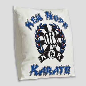 New Hope Karate Burlap Throw Pillow