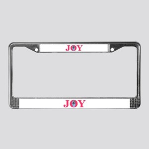 Joy License Plate Frame