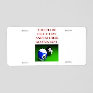 billiards joke Aluminum License Plate