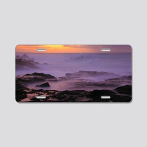 Seascape at sunset Aluminum License Plate