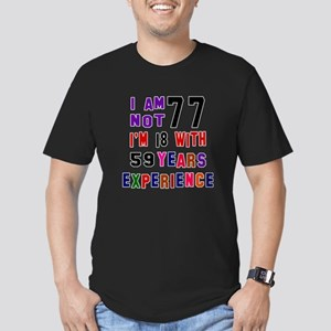 77 Birthday Designs Men's Fitted T-Shirt (dark)