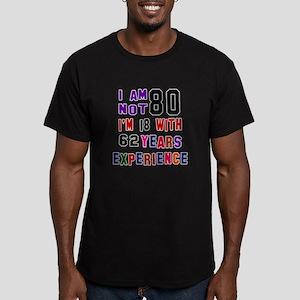 80 Birthday Designs Men's Fitted T-Shirt (dark)