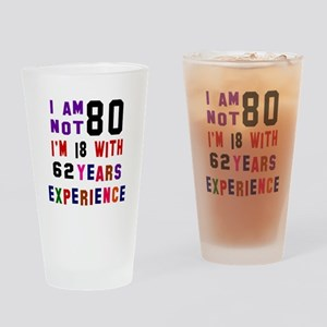 80 Birthday Designs Drinking Glass