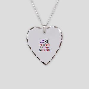 80 Birthday Designs Necklace Heart Charm
