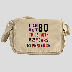 80 Birthday Designs Messenger Bag