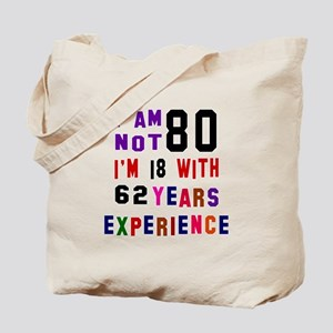 80 Birthday Designs Tote Bag