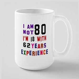 80 Birthday Designs Large Mug