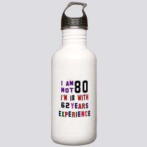80 Birthday Designs Stainless Water Bottle 1.0L