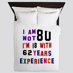 80 Birthday Designs Queen Duvet