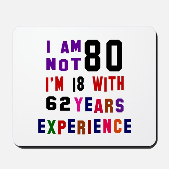 80 Birthday Designs Mousepad