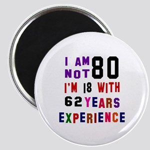 80 Birthday Designs Magnet