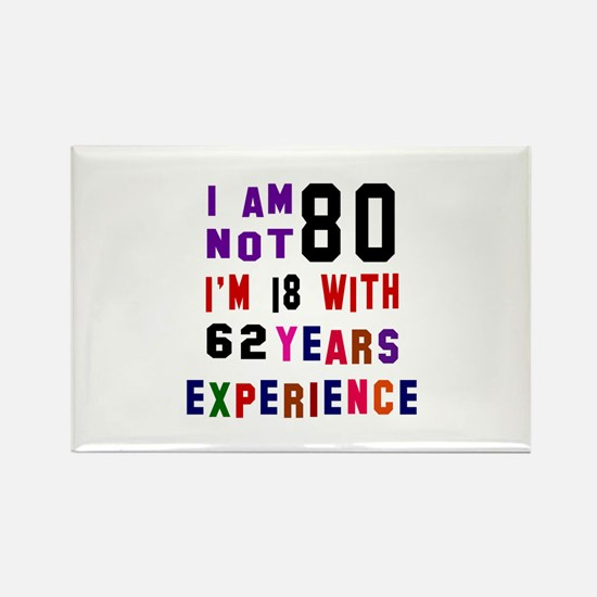 80 Birthday Designs Rectangle Magnet
