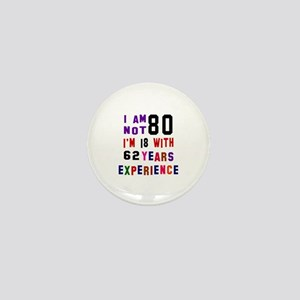 80 Birthday Designs Mini Button
