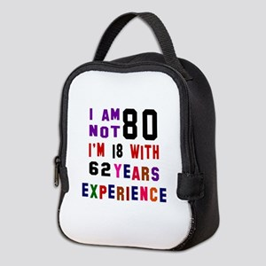 80 Birthday Designs Neoprene Lunch Bag