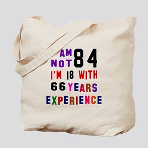 84 Birthday Designs Tote Bag
