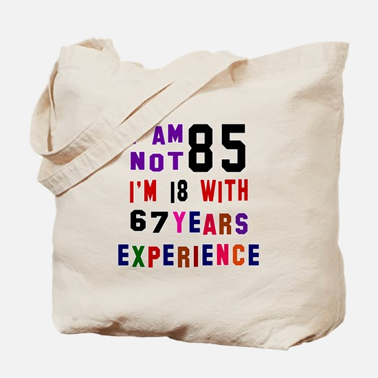 85 Birthday Designs Tote Bag