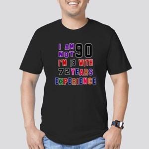 90 Birthday Designs Men's Fitted T-Shirt (dark)