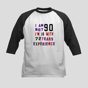 90 Birthday Designs Kids Baseball Jersey